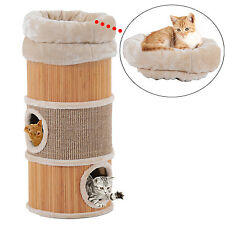 "PawHut Pet 3 Storey Kitten Tree Tower Condo Furniture Scratcher Cat House 32.3""H"