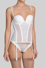 TRIUMPH KISS SPOTLIGHT CRSU MULTIWAY CORSET BASQUE WHITE 34C BNWT £60.00