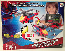 The Amazing Spider-Man - Helicopter Playset - Includes 4 Vehicles * GREAT GIFT *