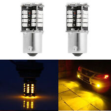 2x 1156 BA15S P21W 3528 SMD 44 LED Canbus No Error Car Amber Tail Brake Light