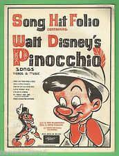 #BB7.  1940 WORDS & MUSIC TO WALT  DISNEY'S PINOCCHIO