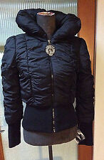 Baby Phat puffy bomber style black jacket *M New with tags