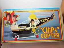 VINTAGE RARE 1980 CHIPS HELICOPTER FACTORY SEALED BOX 1980'S EMPIRE COPTER TOY