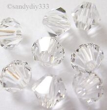 144 x SWAROVSKI 5301 CLEAR CRYSTAL 3mm BICONE CRYSTAL BEAD
