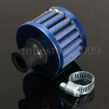 Universal Car 12mm Oil Mini Breather Cold Air Filter Fuel Crankcase Engine BLUE