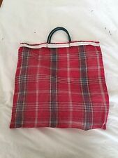 Asian Market Tote Bag Sheer Red Plate Translate