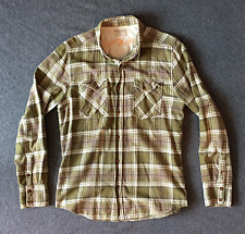 NUDIE JEANS Mens Buffalo Check Plaid Flannel Long Sleeve Shirt Large L