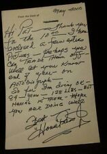 "HOUSE PETERS (DEC'D 2008) ACTOR HANDWRITTEN AND SIGNED LETTER ""MR. CLEAN"" W/COA"