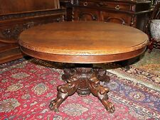 French Antique Henry II Round Dining Table Hunt scene .