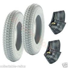 2X Tyre Tube 3.00-8 4 Ply Grey Wheelchair Trolley Electric Mobility Scooter 949