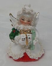 Vintage Japan Napco Holt Howard Ceramic Spaghetti CHRISTMAS ANGEL Planter