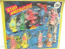 Rare Vintage STAR WARRIORS Aliens & Astronauts Vending Machine Toy Display Card