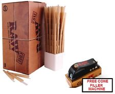 RAW Prerolled Ready to Fill CONES 800 Count KING SIZE + FILLER/SHOOTER Machine