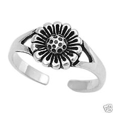 USA Seller Flower Toe Ring Sterling Silver 925 Best Price Adjustable Jewelry