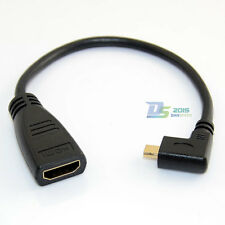 "6"" HDMI A Female to Micro D HDMI Male Left Angled Cable for PSP DVD Xbox 1080P"