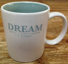 Coffee Mug Gund Gift Dream Noun Hope Inspiration Verb To Imagine Calming Blue