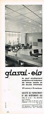 PUBLICITE ADVERTISING   1965   GLASAL ELO  ste fibrociment  revetement