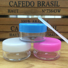 10pcs 10g Face Cream Container Plastic Empty Lip Balm Makeup Cosmetics Jar Pot