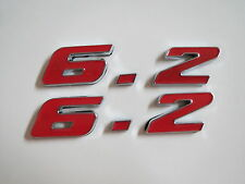 FORD SVT F-150 RAPTOR 6.2 6.2L ENGINE ID FENDER HOOD SCOOP QUARTER EMBLEMS RED