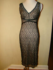 EXPRESS NYLON BLACK LACE NUDE WIGGLE DRESS OLD HOLLYWOOD STYLE DRESS SIZE 1 OR 2