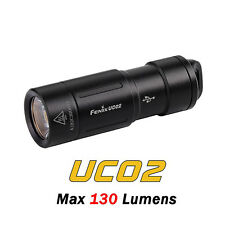 Fenix UC02 Cree XP-G2 S2 LED USB Rechargeable Keychain Flashlight Torch-Black