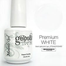 15ml Mabel's Gel Nail Art Soak Off Color UV Gel Polish UV Lamp - Premium White
