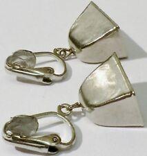boucles d'oreilles clips vintage couleur argent clochette * 1231