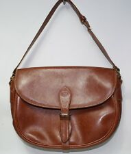 Genuine Fashion Designer Gucci Handbag Woman's Bag Vintage  Leather Tan Brown
