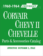 Corvair Nova and Chevy II Illustrated Parts Book 1960 1961 1962 1963 1964 Master