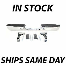 New Complete - Chrome Steel Rear Step Bumper Assembly 1994-2002 Dodge Ram Truck