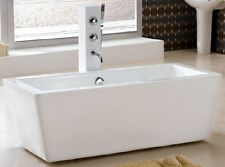 aM2059 59 Inch FREE STANDING BATHTUB & FAUCET bath tub pedestal clawfoot small