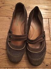 Padders 'feelgoodfeet' brown leather ladies shoes size 38 UK size 5 vgc