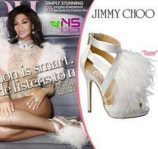 Jimmy Choo Shoes 36.5/ 6.5 Ostrich Feather