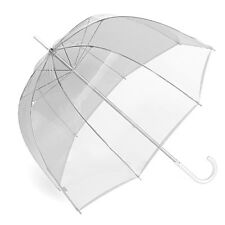 "RainStopper 34"" Children's Clear Plastic PVC Dome Bubble Rain Sun Shade Umbrella"