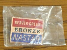 BEAVER CREEK - Ski Pin Badge Skiing - RED NASTAR BRONZE - Colorado Mountains MTN