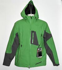Spyder Men's Chambers Ski Jacket - Small - Green/Gray - MSRP $325 - NEW w/tags