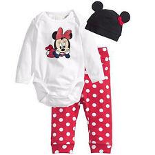 3pcs Newborn Baby Boys Girls Romper Hat Pants Bodysuit Outfits Clothes Sets Suit