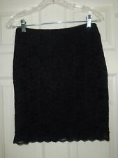 Express Black Floral Lace Mini Skirt Size 4 NWT