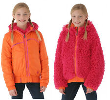 Spyder Girls High-Pile Reversible Fleece Jacket 2-in-1,Size L (14/16 Girl's),NWT