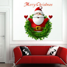 1Pc Xmas Santa Claus Wall Stickers Vinyl Art Christmas Home Window Decals Decor