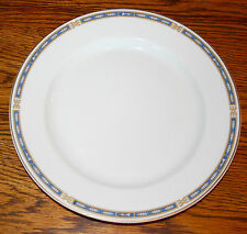 "Syracuse China O.P. Co. Mistic 9 3/4"" Dinner Plate Blue Cobalt with Gold trim"