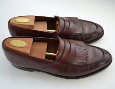 Brooks Brothers Peal & Co Brown Leather Kiltie Slip On Loafers Men's 9.5 C EUC