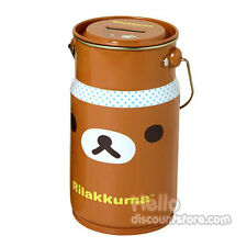 San-x Rilakkuma Milk Jug Bottle Coin Bank-Brown Face Rilakkuma