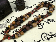 18 Bodhi seeds Tibet Buddhism 108 prayer Beads Mala Necklace