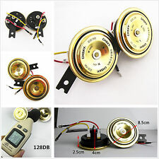 2 Piece Auto Grille Golden Waterproof Compact Super Tone Holzer Electronic Horn