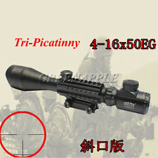 Telescopic Sight 4-16x50EG Green/Red Hunting Rifle Scope with Tri Pincatiny Rail