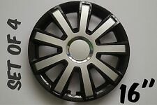 """SET OF 4 16"""" WHEEL TRIMS COVER,RIMS,HUB,CAPS TO FIT TOYOTA PREVIA AURIS +GIFT#10"""