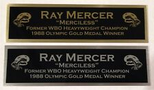 RAY MERCER NAMEPLATE FOR SIGNED TRUNKS GLOVE PHOTO DISPLAY CASE