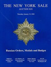 RUSSIAN ORDER COINS MEDAL BADGE SILVER GOLD AUCTION CATALOG REFERENCE BOOK