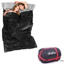 Portable Comfort Double Sleeping Bag Space Saving 2 Person Camping Hiking Travel